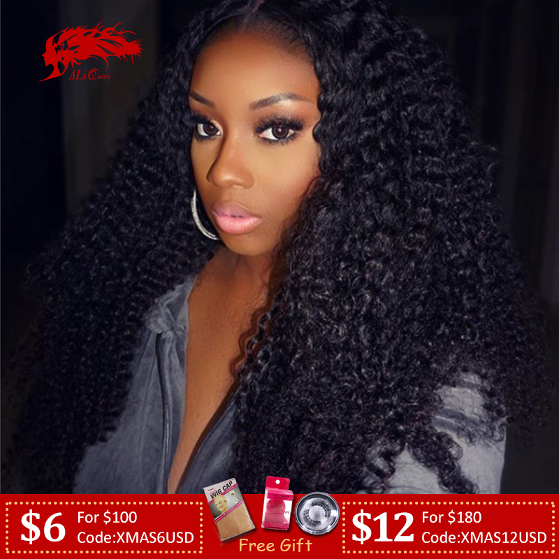 Mongolian Afro Kinky Curly 13x6 Lace Front Wig 8