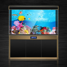 Fish Tank Background HD 3D Drawing Aquarium Glass Wall Double Sides Decorative Sticker 2019