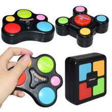 Crianças puzzle jogo de memória console led luz som interativo brinquedo treinamento mão coordenação cérebro