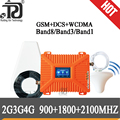 2G 3G 4G Handy Signal Booster GSM 900 + DCS/LTE 1800 (Band 3) + UMTS/WCDMA 2100 (Band 1) Mobile Signal Repeater Cellular Verstärker