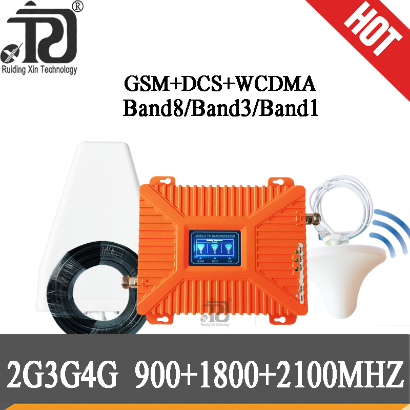 2G 3G 4G Mobile Signal Booster GSM 900+DCS/LTE 1800(Band 3)+UMTS/WCDMA 2100(Band 1)Mobile Signal Repeater Cellular Amplifier
