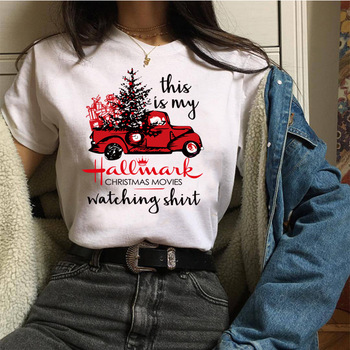 Christmas gift Funny white t-shirt Women's This Is My Hallmark Christmas Top Tees Hipster Festival Camiseta Mujer