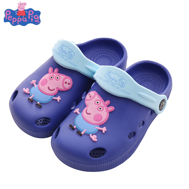 Peppa Pig Original Children Casual Package Toes Hollow Shoes Baby Toddler Soft Bottom Wear-resistant Summer Non-slip Shoes