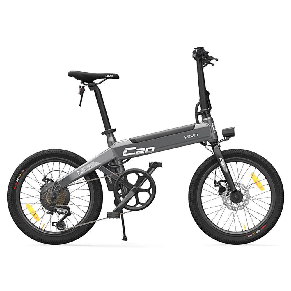 [Estoque da ue] himo c20 bicicleta elétrica 250 w motor ebike 25 km/h e bicicleta 80 km quilometragem bicicleta elétrica ao ar livre 20 polegada