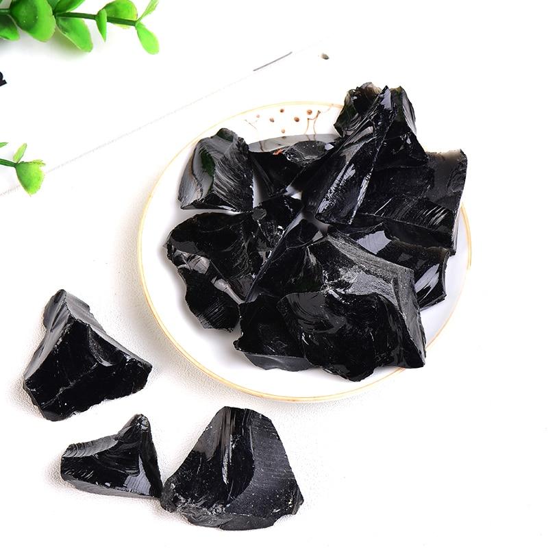 Natural Stone Obsidian Crystal Gravel Irregular Shape Specimen Repair Rock Mineral Healing Stone Gift Home Decor Reiki Aquarium