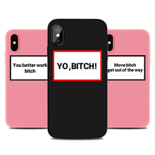 Funny New Phone Case for IPhone 6s 7 8 11 Plus Pro X XS MAX XR SE Letters Cases Soft Silicone Fitted TPU Back Accessories Covers i m angry phone case for iphone 6s 7 8 11 plus pro x xs max xr se funny cases soft silicone fitted tpu back accessories covers