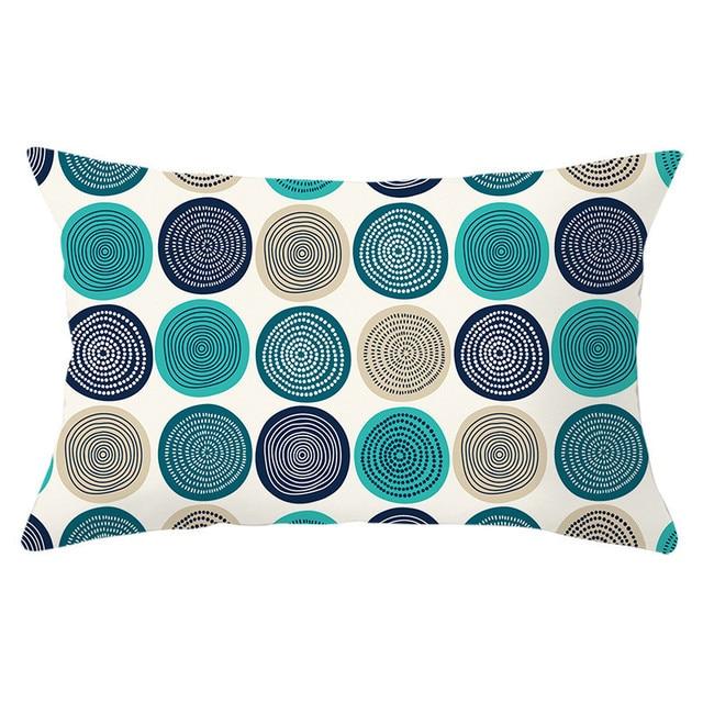 Geometric Patterned Rectangular Cushion Cover 6