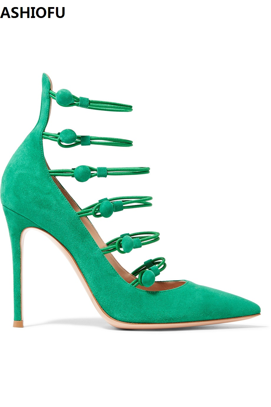 ASHIOFU Handmade New Ladies High Heel Pumps Buckle Straps Sexy Party Prom Dress Shoes Fashion Evening Club Court Shoes