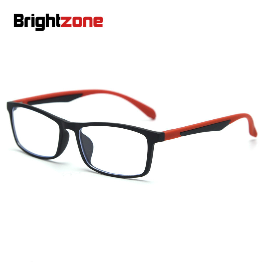 Brightzone Square Fashion Goggles Tr90 Myopic Spectacle Frame Men Women Eyeglass Computer Protection Anti Blue Light Ray Glasses