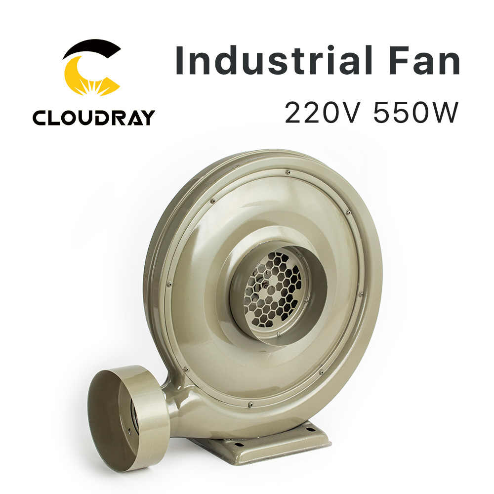 Cloudray 220V 550W Ventilator Air Blower Centrifugaal voor CO2 Lasergravure Snijmachine Medium Druk Lager Geluidsniveau