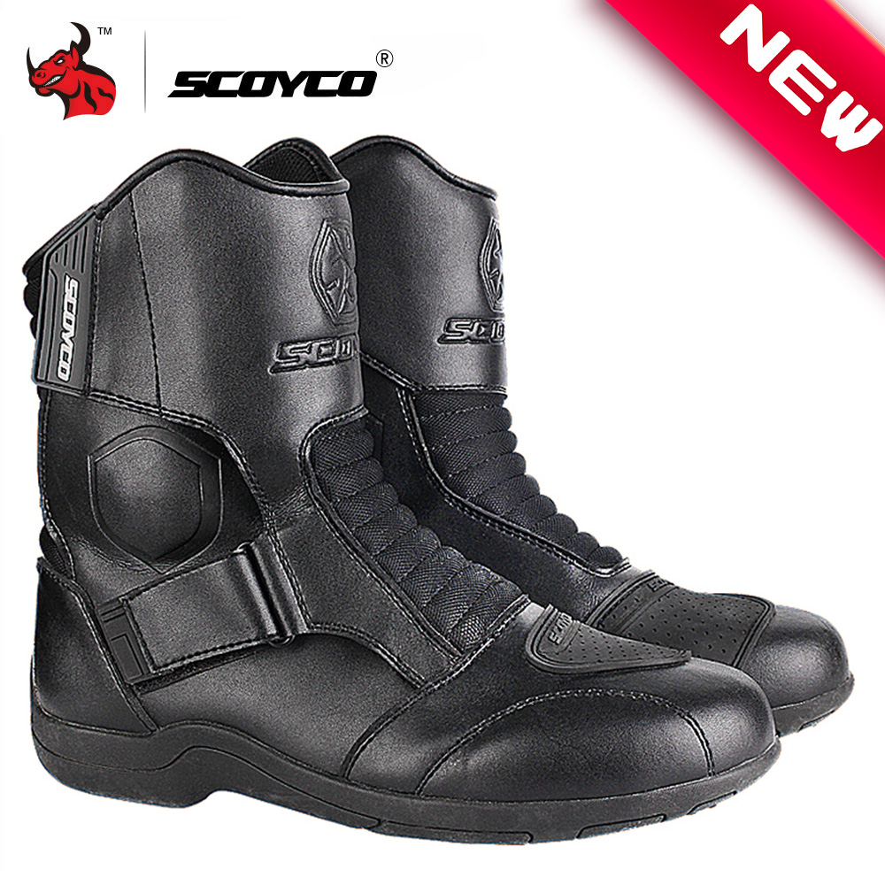 Urban Riding Shoes,Breathable Bovine Leather Impact-resistant Riding Boots EU 41//US 8, Black