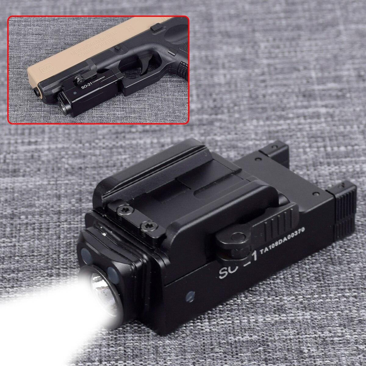 tatico mini arma lanterna para glock 17 18c 19 22 20mm trilho pistola de luz da