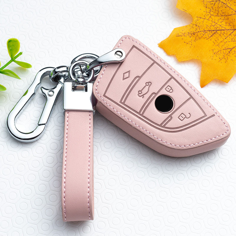 Leather Car Remote Key Case Cover for BMW 1 2 3 4 5 6 7 Series X1 X3 X4 X5 X6 F30 F34 F10 F07 F20 G30 F15 F16 Protection