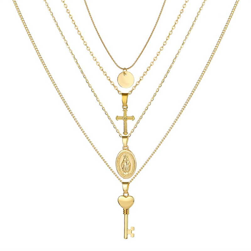 VKME модное жемчужное ожерелье с двойным слоем Love аксессуары Женское Ожерелье Bijoux подарки - Окраска металла: ZL0000836