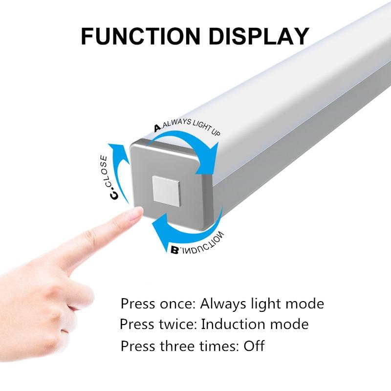 Motion Sensor Night Light Portable 14/20 LED Cabinet Lights USB Charging Induction Night Lamp For Bedroom Living Room Corridor 3