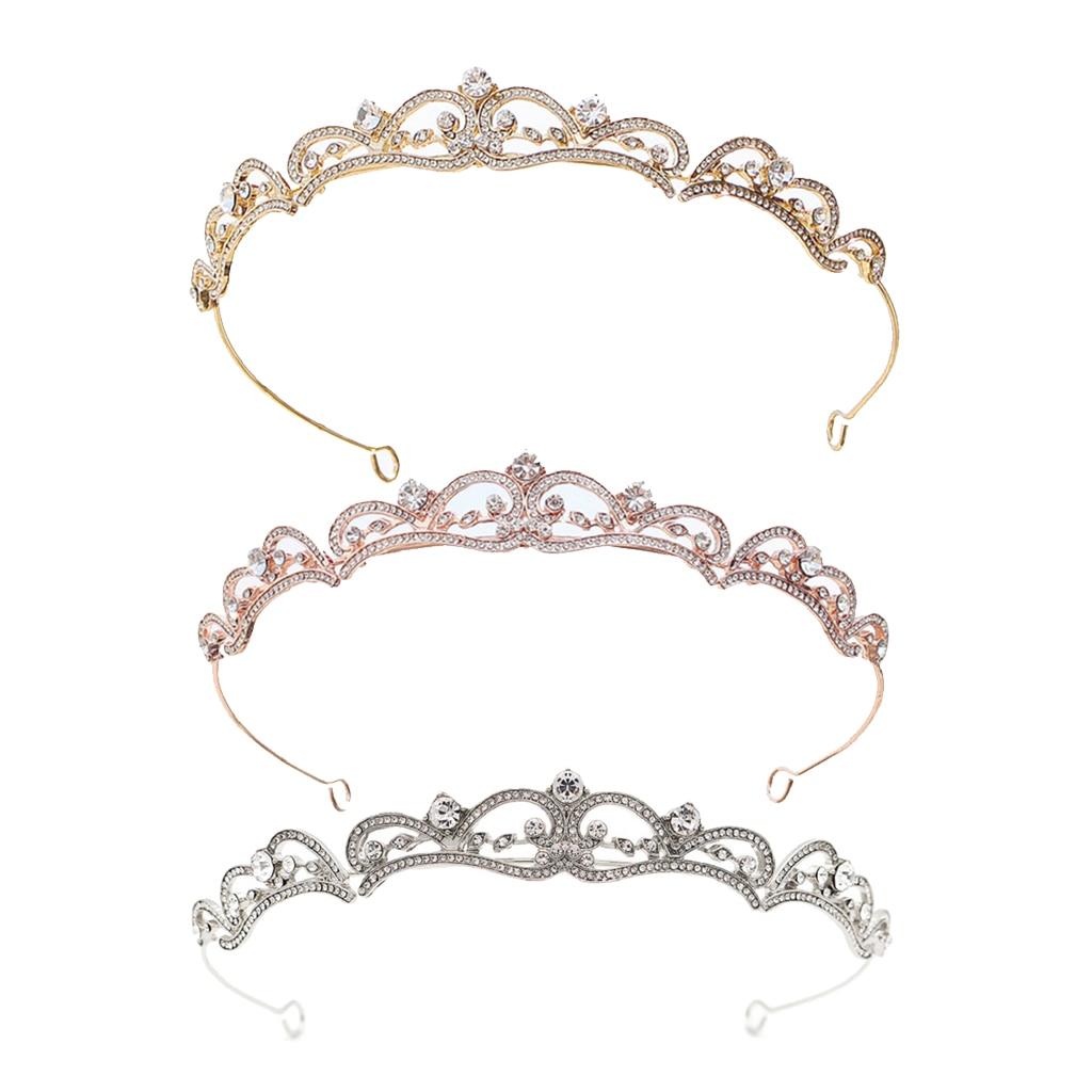Bride Crown Hair Band Tiara Crystal Headband Party Charms Headwear