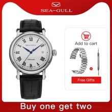 Seagull 2019ธุรกิจใหม่นาฬิกาคู่นาฬิกานาฬิกา50เมตรกันน้ำหนังนาฬิกา819.368