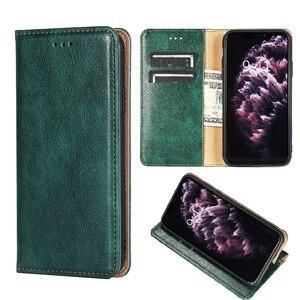 Skórzany portfel Z klapką ochronny futerał na telefon do OPPO Reno 2 3 Realme 5 Q Pro 2Z 2F Z 10-krotnym zoomem pokrywa Z magnesem miejsce na karty