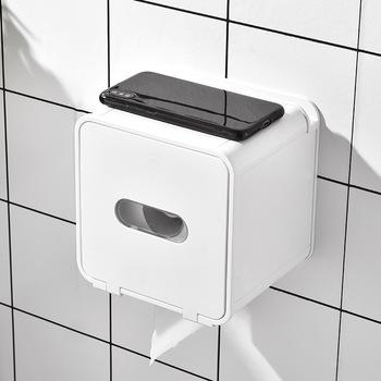 Naścienny pudełko na chusteczki uchwyt na papier toaletowy łazienka podajnik ręczników papierowych papier kuchenny uchwyt papier kuchenny podajnik ręczników papierowych tanie i dobre opinie CN (pochodzenie) stainless steel Paper Holder Bathroom Accessories Undefined Toilet Paper Dispenser