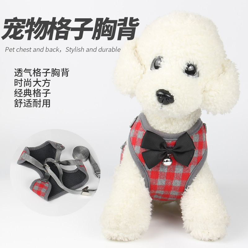 Fashion Pet Dog Useful Product Dog Chest Strap Vest Style Clothes Bow Chest Strap