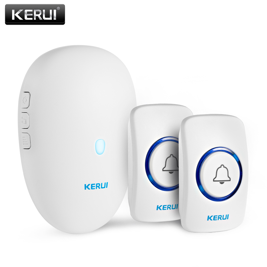 KERUI Wireless Welcome Alarm Doorbell Home Security 57 Chimes Smart Doorbell 80m Remote Control  Wireless Button Door Bell