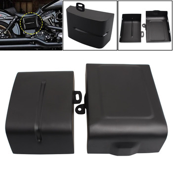 Motorcycle Accessories For Harley Dyna Street Fat Bob Rider Super Wide Glide FLD FXD FXDF Battery Guard Electrical Panel Cover