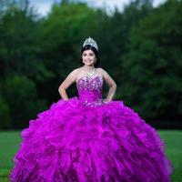 2020 Purple Sweet 16 Dress Quinceanera Dresses Pageant Gowns vestido vestidos de 15 años quinceañera vestidos de xv anos