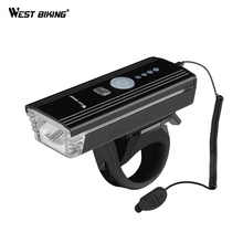 WEST BIKING Bike Bicycle Light For MTB Mountain Cycling USB Bicycle Light Front LED Flashlight With Bike Cycling Accessories bikein road bike led front light taillight usb rechargeable light cycling mountain bike handlebar mtb bicycle accessories
