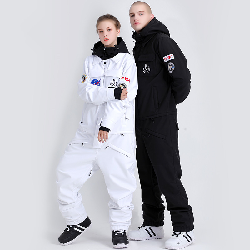 2020 Winter Uni-Sex One Piece Ski Suit Snowboard Jacket Winter Waterproof Warm Skiing Outwear Veste Ski Jumpsuit Homme
