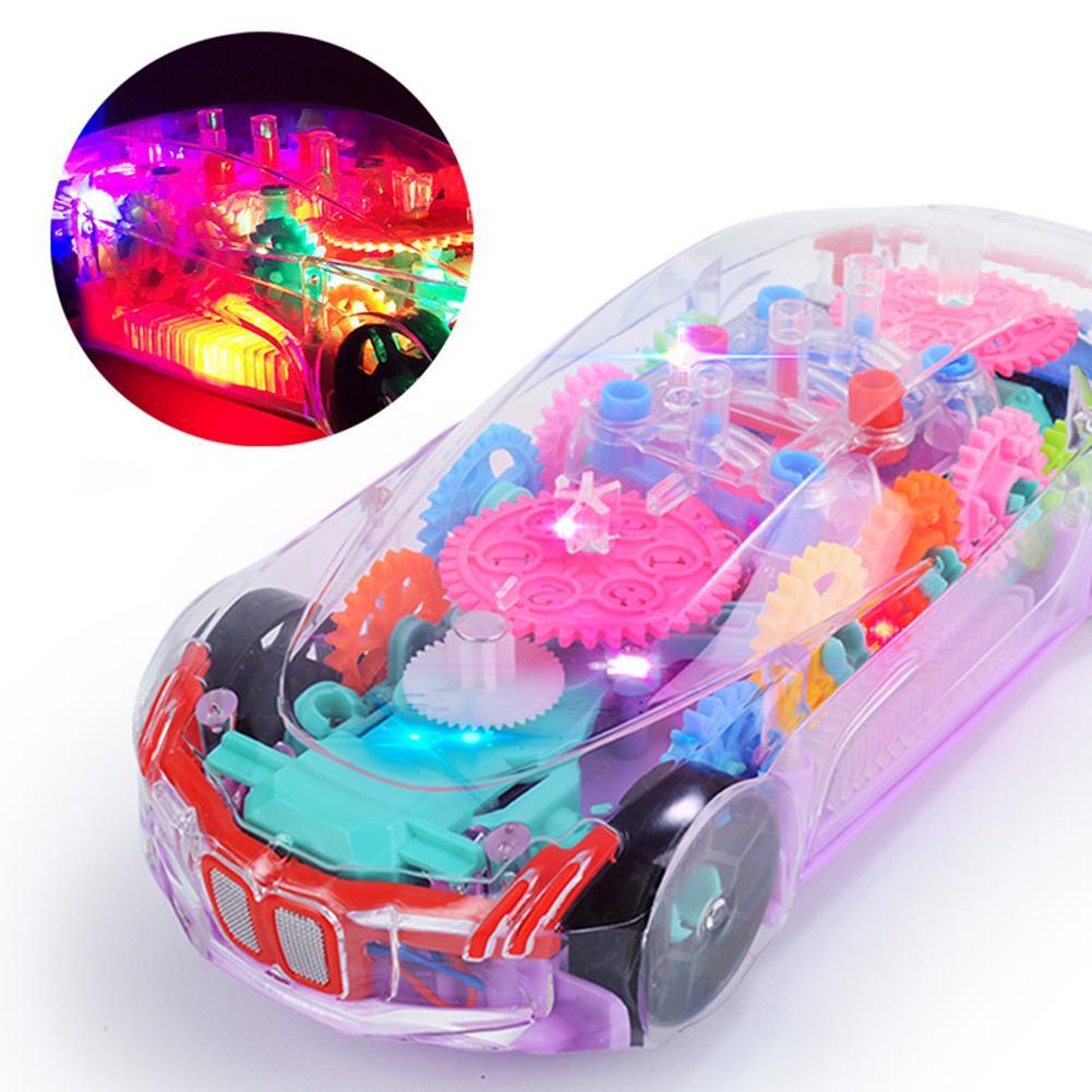 Электронный Прозрачный автомобиль, музыкальный автомобиль, музыкальсветильник ильник для детей, раннее образование, забавная игрушка, под...