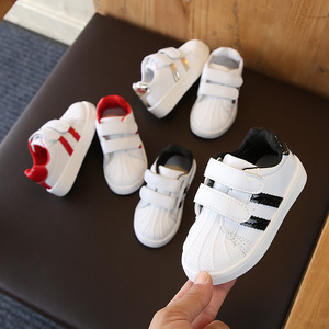 Boys Sneakers For Kids Shoes Baby Girls Toddler Shoes Fashion Brand White PU Casual Light Soft Sport Running Children's Shoes