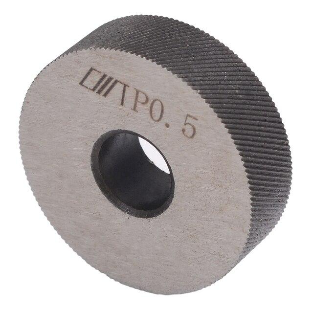 7pcs Steel Dual Wheel Knurling Tool Set With Diagonal  Linear Knurl Wheel Pitch