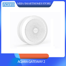 オリジナルシャオ mi mi 嘉 Aqara ハブ、 mi Gateway2 rgb Led 夜の光スマートアップル Homekit と aqara スマート app で動作