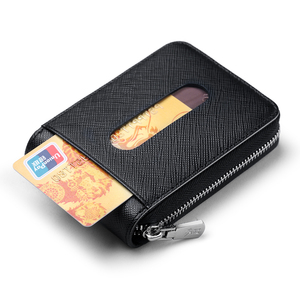 Image 3 - WILLIAMPOLO עור כרטיס מחזיק גברים כרטיס אשראי ארנק עור פרה כרטיס רוכסן גברים של ארנק רוכסן ארנק גברים מטבע ארנק #185143