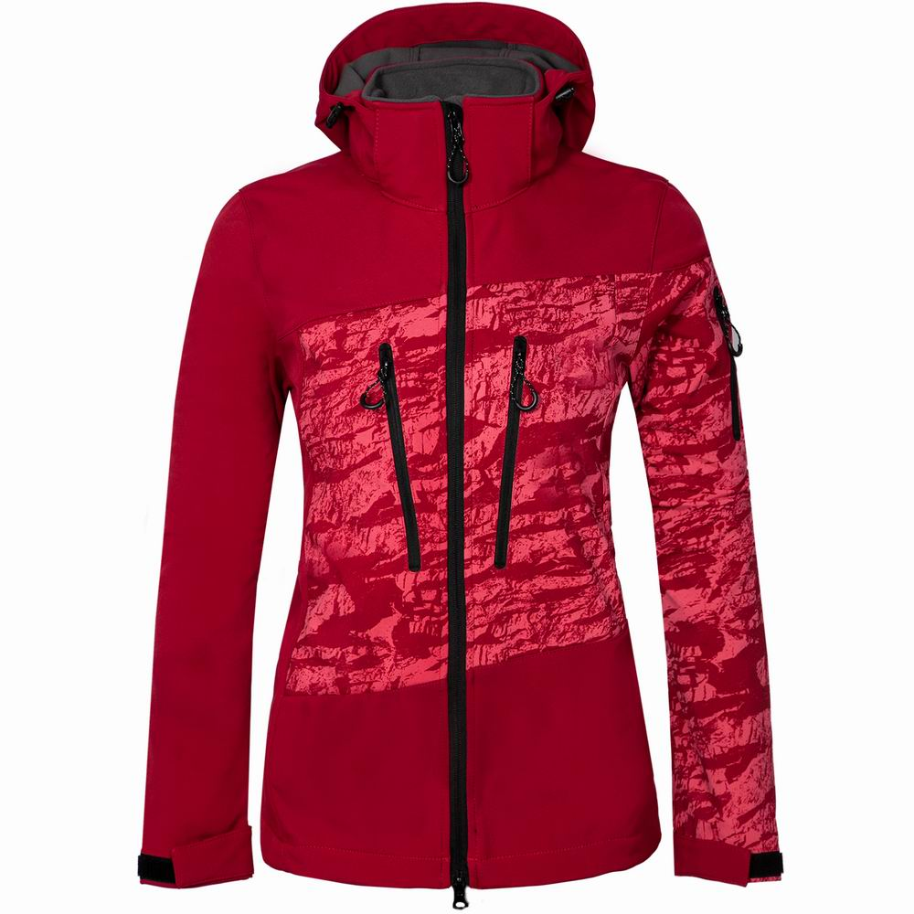 Women Ski Jackets Hooded Soft Shell Winter Jacket Waterproof Windproof Snowboard Jacket Female Snowboarding Skiing Hiking Sports