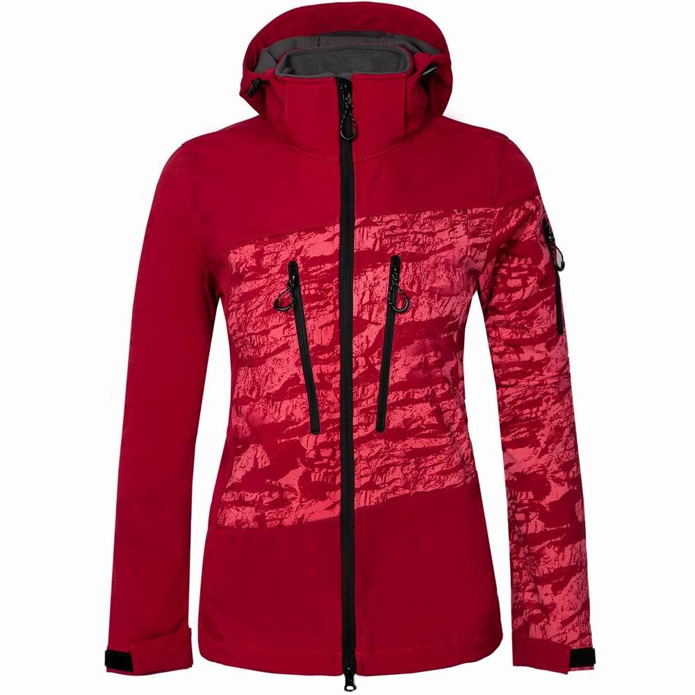 Women Ski Jackets Hooded Soft Shell Winter Jacket Waterproof Windproof Snowboard Jacket Female Snowboarding Skiing Hiking Sports