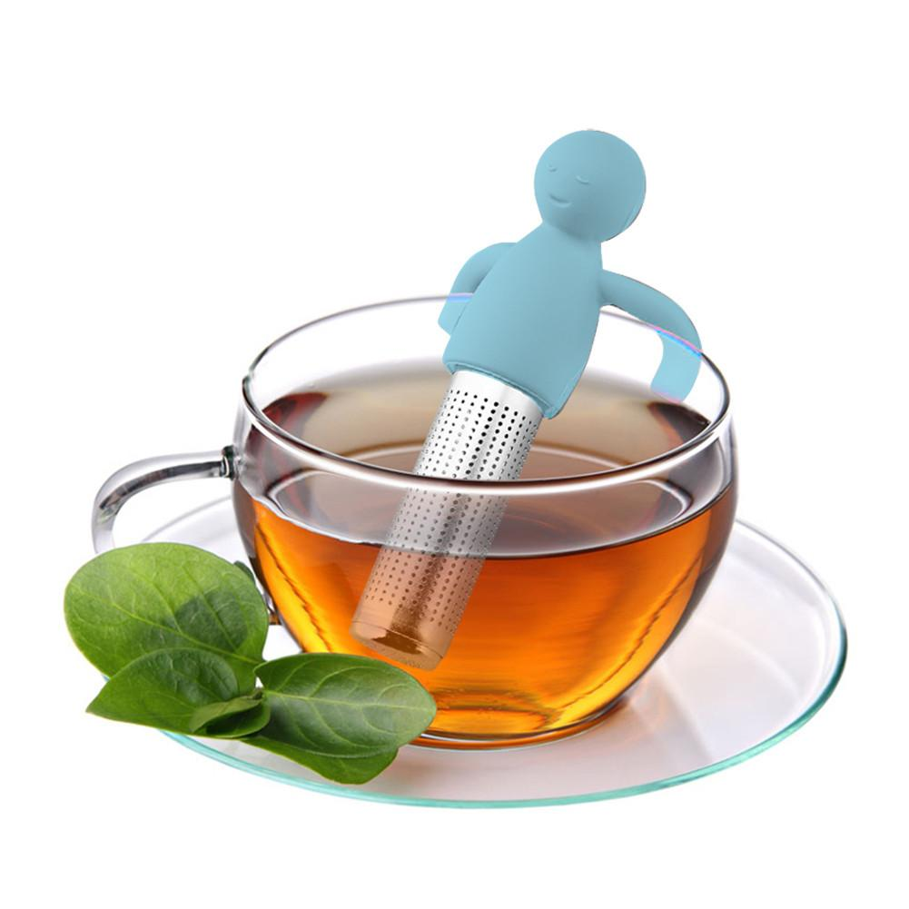 Silicona Cute Poop Shape Tea Leaf Herbal Colador Filtro Infusor Bolsas Juguete Colador de t/é port/átil