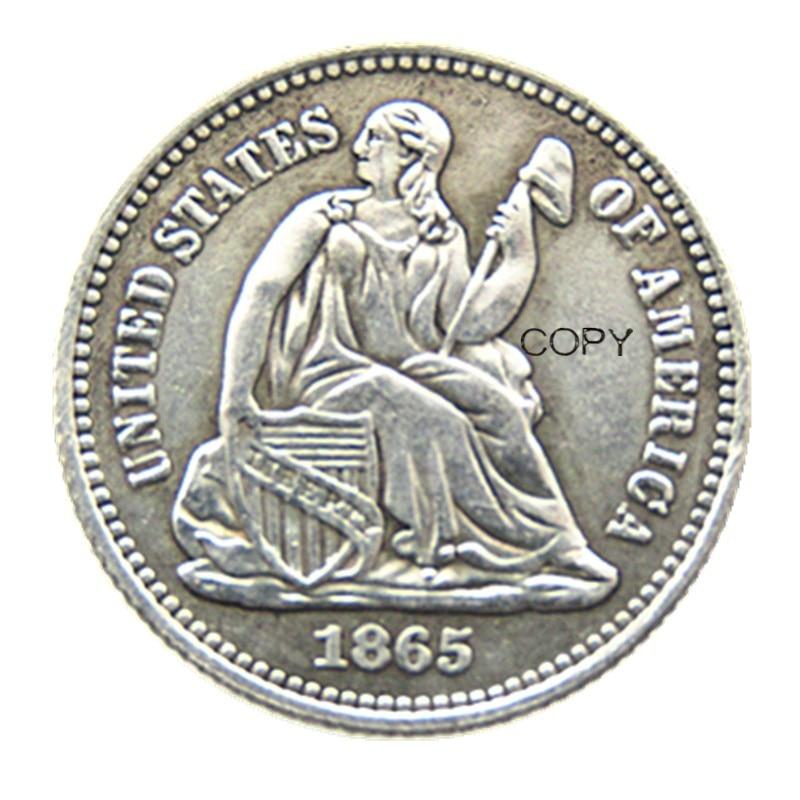 USA 1865P/S(Mintmark Below) Liberty Seated Half Dime Legend Obverse Copy Coins