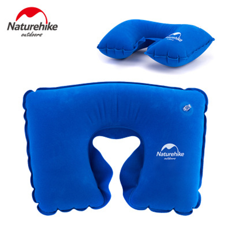 Naturehike Outdoor Inflatable U Shape Pillow Portable Ultralight Pillow Folding Office Air Pillow Plane Camping Travel Train