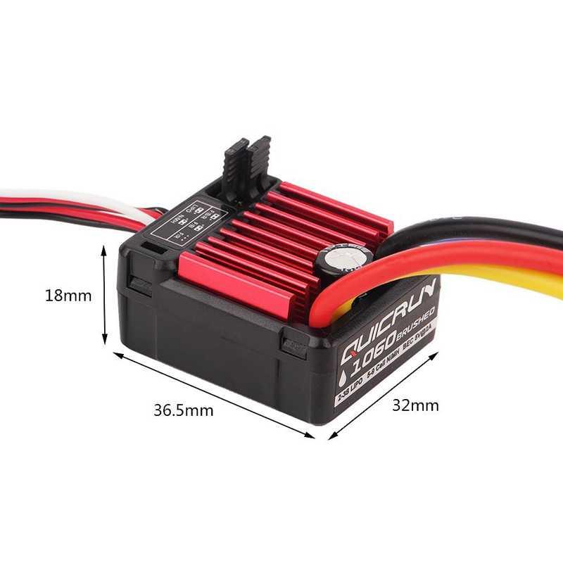 Piezas de coche Rc ABSF HobbyWing QuicRun 1/10 resistente al agua cepillado 60A controlador electrónico de velocidad Esc 1060 para coches Rc juguetes para niños
