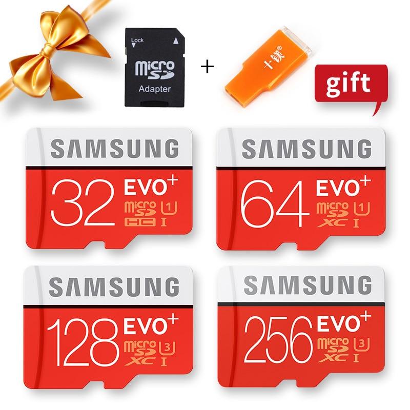 Купить с кэшбэком SAMSUNG Microsd Card 256G 128GB 64GB 32GB 16GB 8GB 100Mb/s Class10 U3 U1 SDXC Grade EVO+ Micro SD Card Memory Card TF Flash Card