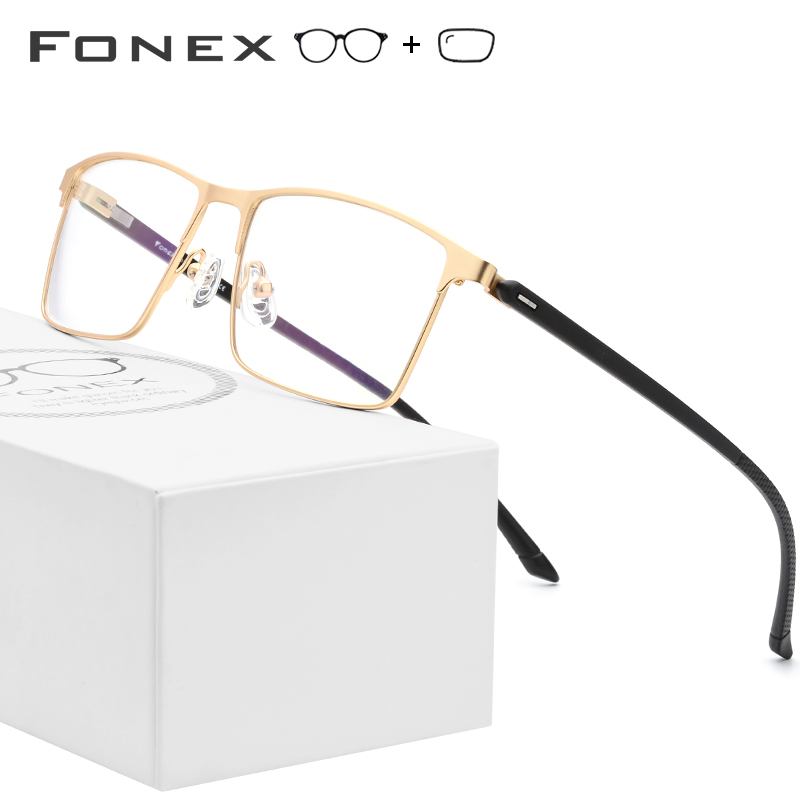 TR90 Alloy Prescription Glasses Men Square Myopia Optical Frame Men's Male Full Korean Prescription Eyeglasses Frames 10018 image