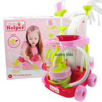 Play House Toys Model Children Cleaning Cart Band Vacuum Cleaner Cleaning Tools GIRL'S Cleaning Kit 1.42