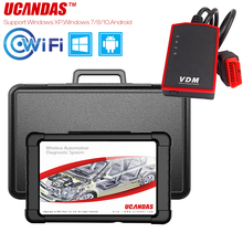 UCANDAS VDM Scanner professionnel automobile, outil de Diagnostic de voiture, système complet, multilingue, câble OBD2, mise à jour gratuite