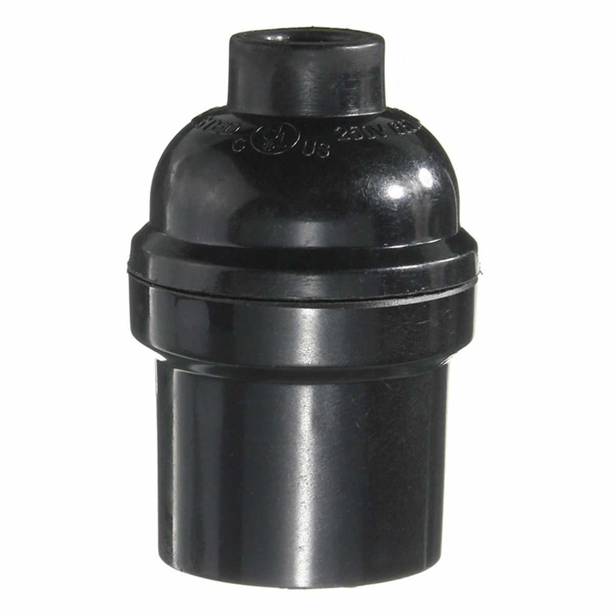 Lamp Base E27/E26 4A 250W Light Bulb Socket Lamp Base Holder Pendant Screw Cap Vintage Black 250V
