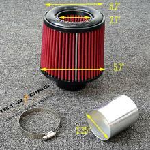 """2,2"""" 57 мм универсальный резиновый конический круглый конический воздушный фильтр с высоким потоком"""