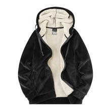 MANTLCONX Oversize 7XL 8XL Winter Fleece Warm Jacket Men Hooded Windbreak Thicken Jacket Coats Men Outwear Fashion Casual Parkas