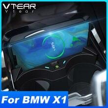15W QI bezprzewodowa ładowarka samochodowa do BMW X1 F48 akcesoria modyfikacja wnętrza szybkie ładowanie telefonu płyta Pad 2016-2021