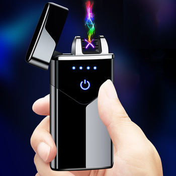 New net red high power windproof arc usb rechargeable lighter creative personality birthday gift