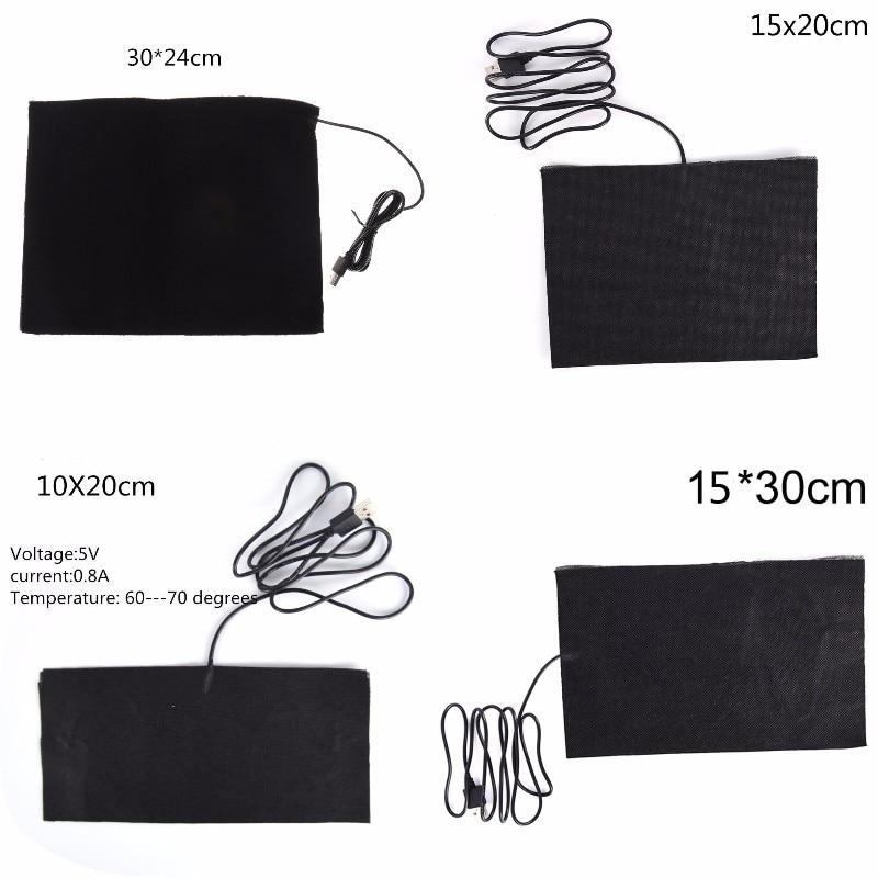 USB Warm Paste Pads Fast-Heating Carbon Fiber Heating Pad Safe Portable Heating Warmer Pad for Cloth Vest Jacket shoes socks